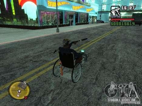 Cadeira de rodas manual para GTA San Andreas vista traseira
