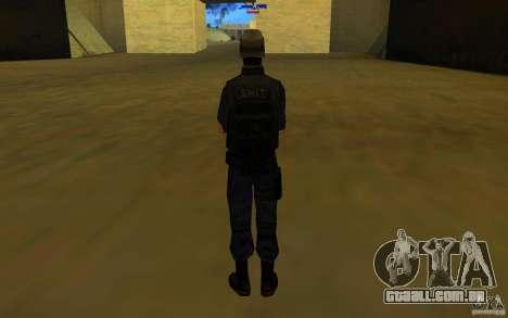 HQ skin S.W.A.T para GTA San Andreas por diante tela