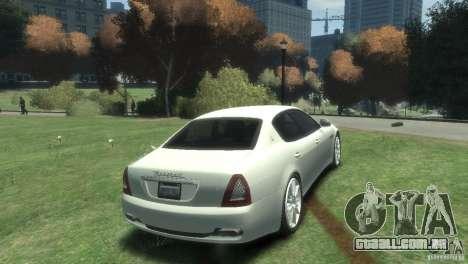 Maserati Quattroporte para GTA 4 vista direita