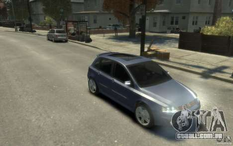 Fiat Stilo Sporting 2009 para GTA 4 vista de volta