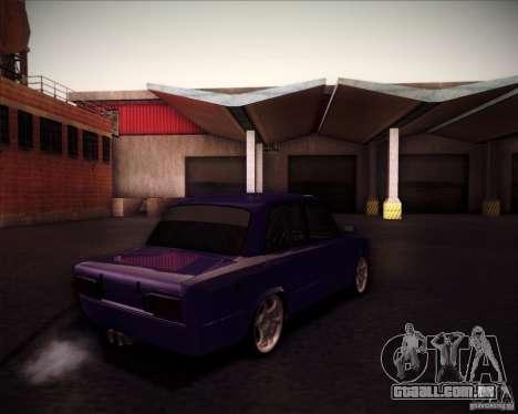 Drift VAZ 2106 para GTA San Andreas vista traseira