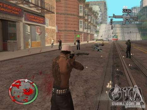 GTA IV HUD v4 by shama123 para GTA San Andreas