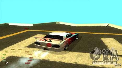 Pack vinil para Elegy para GTA San Andreas sexta tela