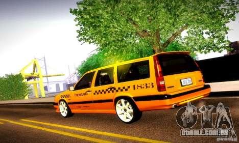 Volvo 850 R Taxi para GTA San Andreas esquerda vista