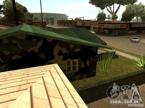 Casa nova de Denis para GTA San Andreas por diante tela