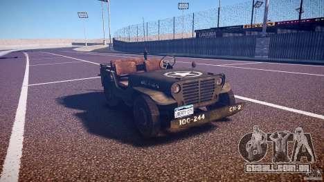 Walter Military (Willys MB 44) v1.0 para GTA 4 vista de volta