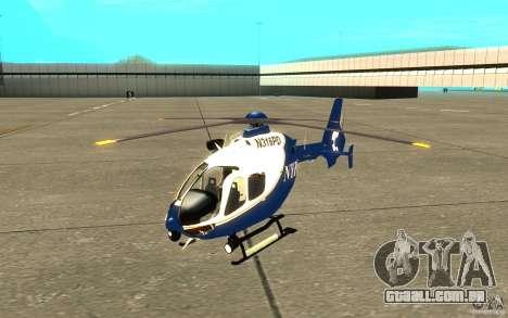 NYPD Eurocopter por SgtMartin_Riggs para GTA San Andreas esquerda vista