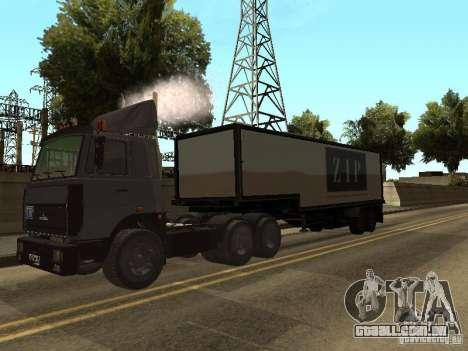 Caminhão MAZ 5336 para GTA San Andreas vista direita