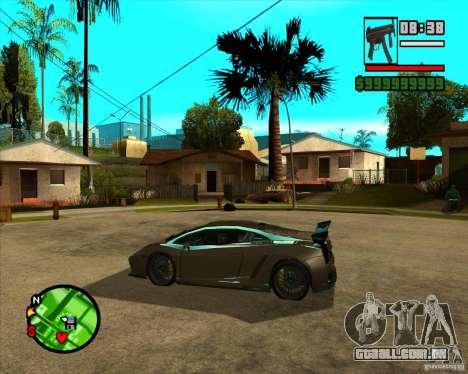 Lamborghini Gallardo Extreme Tuned para GTA San Andreas vista direita