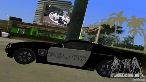 Saleen S281 Barricade 2007 para GTA Vice City vista traseira