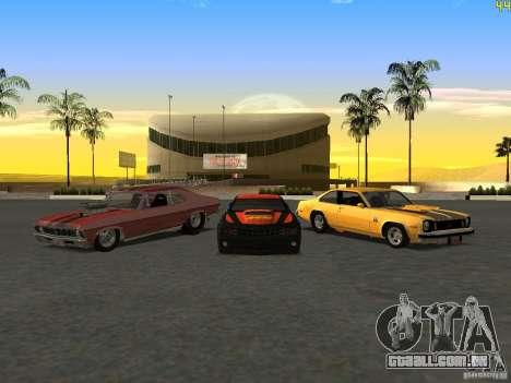Chevrolet Camaro NOS para GTA San Andreas vista traseira