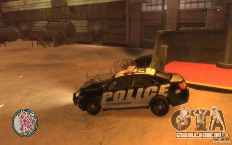Ford Taurus Police para GTA 4 vista direita
