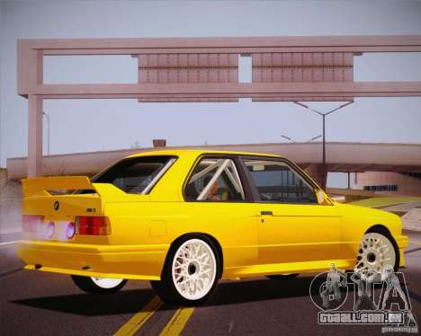 BMW M3 E30 para vista lateral GTA San Andreas