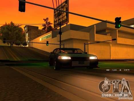 New Sultan para GTA San Andreas vista interior