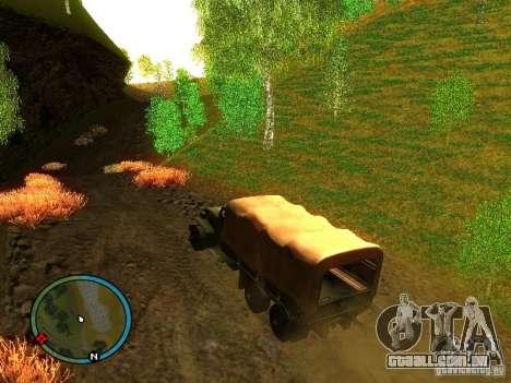 Millitary Truck from Mafia II para GTA San Andreas esquerda vista