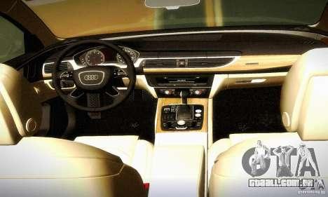 Audi A6 2012 para GTA San Andreas vista superior