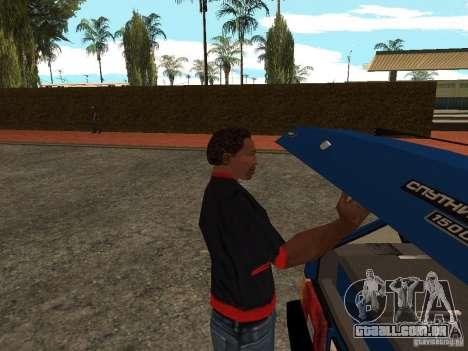 Abra o porta-malas e capô manualmente para GTA San Andreas segunda tela