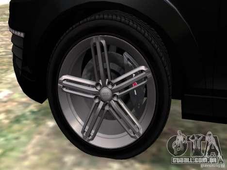 Audi Q7 V12 TDI Quattro Final para GTA 4 vista inferior