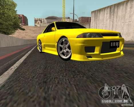 Nissan Skyline R32 Bee R para GTA San Andreas traseira esquerda vista