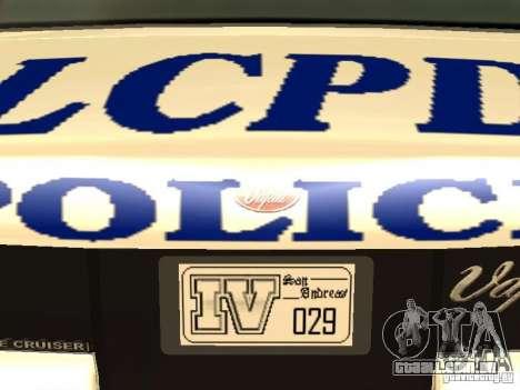 A polícia de GTA4 para GTA San Andreas interior