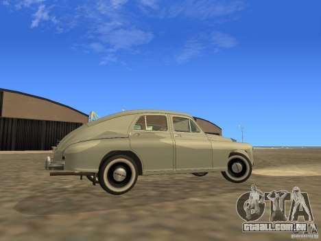 GAZ M20 Pobeda 1949 para GTA San Andreas vista interior