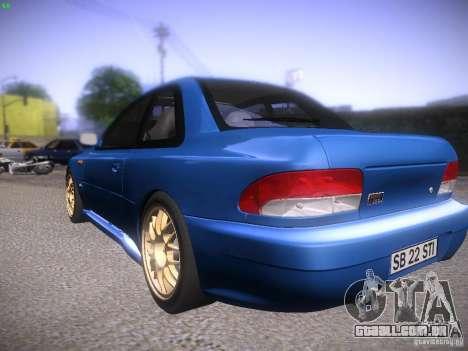 Subaru Impreza 22b Tunable para GTA San Andreas vista direita