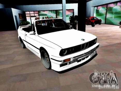 BMW M3 E30 Cabrio para GTA Vice City vista direita