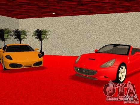 Novo Showroom da Ferrari em San Fierro para GTA San Andreas nono tela