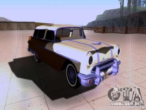Pontiac Safari 1956 para GTA San Andreas vista traseira