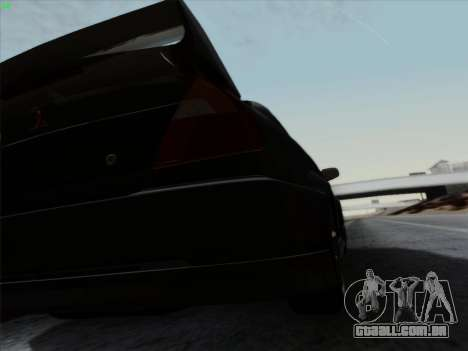 Mitsubishi Lancer Evolution VI para GTA San Andreas vista superior