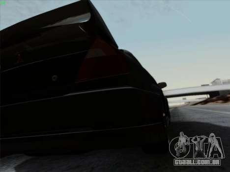 Mitsubishi Lancer Evolution VI para GTA San Andreas vista superior