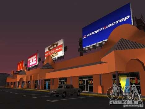 Loja russa em Las Venturase para GTA San Andreas por diante tela