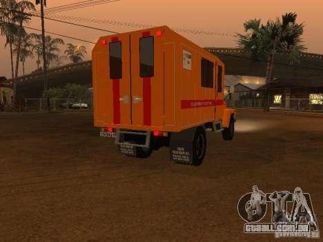 3309 Gaz; para GTA San Andreas traseira esquerda vista