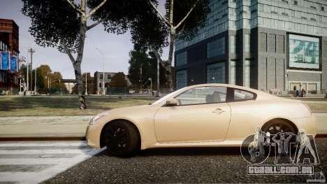 Infiniti G37 Coupe Sport para GTA 4 traseira esquerda vista