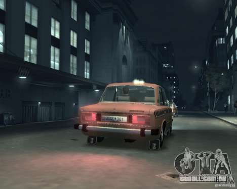 Táxi de 2106 VAZ para GTA 4 vista direita