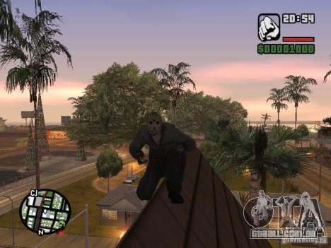 Jason Voorhees para GTA San Andreas por diante tela
