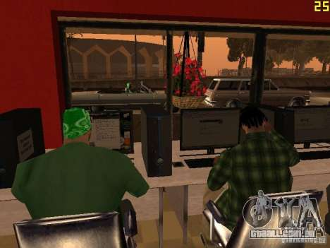 Ganton Cyber Cafe Mod v1.0 para GTA San Andreas por diante tela