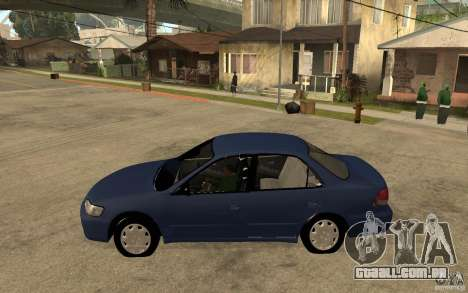 Honda Accord 2001 beta1 para GTA San Andreas esquerda vista