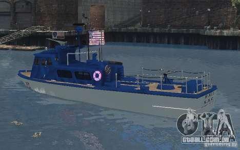 Coast Guard Patrol para GTA 4 traseira esquerda vista