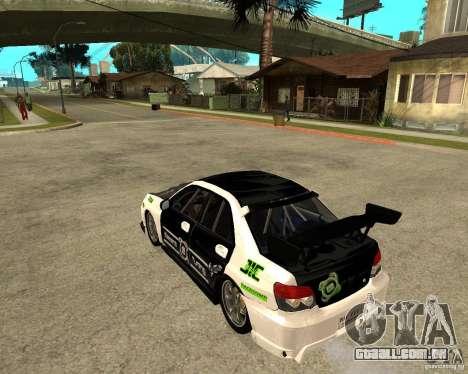 Subaru Impreza Elemental Attack para GTA San Andreas esquerda vista