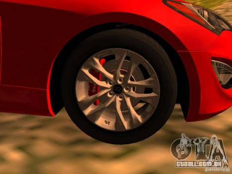 Hyundai Genesis Coupé 3.8 Track v 1.0 para GTA San Andreas traseira esquerda vista