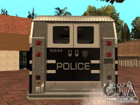 Máquina de selo HD para GTA San Andreas traseira esquerda vista