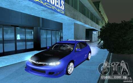 Subaru Impreza WRX STI 2008 Tunable para GTA San Andreas traseira esquerda vista
