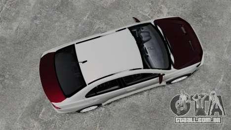 Mitsubishi Lancer Evolution X ToneBee Designs para GTA 4 vista direita