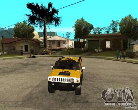 AMG H2 HUMMER TAXI para GTA San Andreas vista traseira
