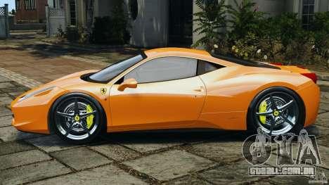 Ferrari 458 Italia 2010 v3.0 para GTA 4 esquerda vista