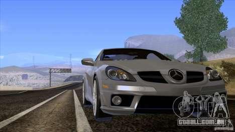 Mercedes-Benz SLK 55 AMG para GTA San Andreas vista interior