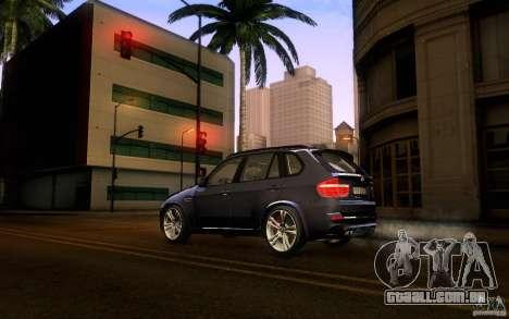 BMW X5M  2011 para GTA San Andreas esquerda vista