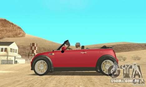 Mini Cooper Convertible para GTA San Andreas vista direita