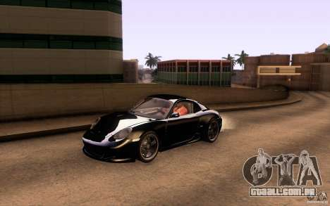 Ruf RK Coupe V1.0 2006 para GTA San Andreas vista inferior